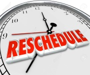 Reschedule Delay Postponement Words Clock Late Apponitment Cancelled